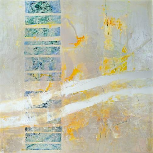 "A Priori by Anne Marchand, original abstract painting, 72x72"" acrylic and mixed media on canvas"